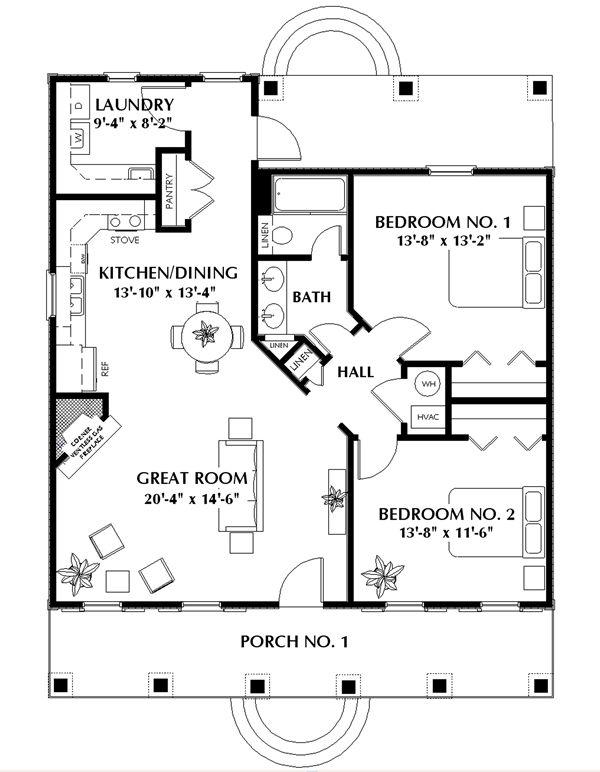 Этот прекрасный проект одноэтажного дома в дачном стиле 10 на 12 метров площадью  до 150 кв.м с 2 спальнями подходит  для дачи . Также перед домом есть веранда..