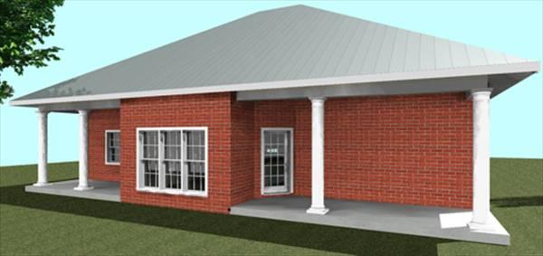 Этот практичный проект одноэтажного дома  площадью  до 200 кв.м с 3 спальнями подходит для постоянного проживания. Также перед домом есть веранда..