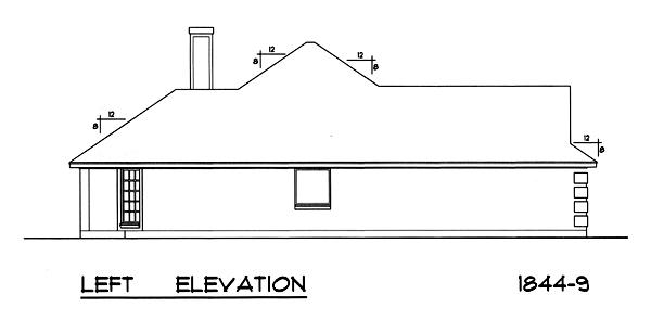Вид слева План 1-этажного дома RD-2862-1-3 171 кв м
