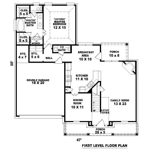 План 1 этажа План 2-этажного дома 14x15 181 кв м