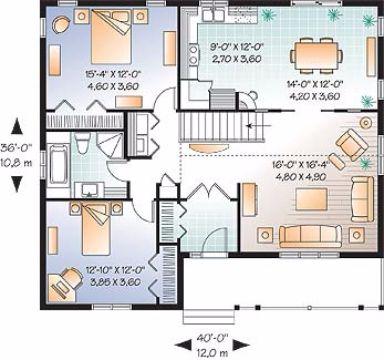 Отличный проект одноэтажного дома в дачном стиле 12 на 11 метров площадью  до 150 кв.м с 2 спальнями подходит  для дачи . Также перед домом есть веранда..