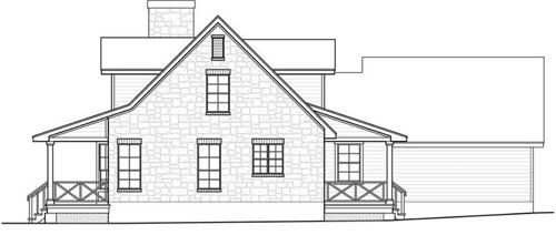 Вид справа План одноэтажного дома 14x20 с 3 слуховыми окнами на мансарде