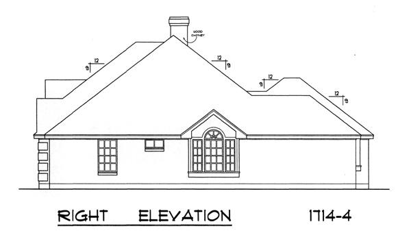 Вид справа План 1-этажного дома 17x16 159 кв м