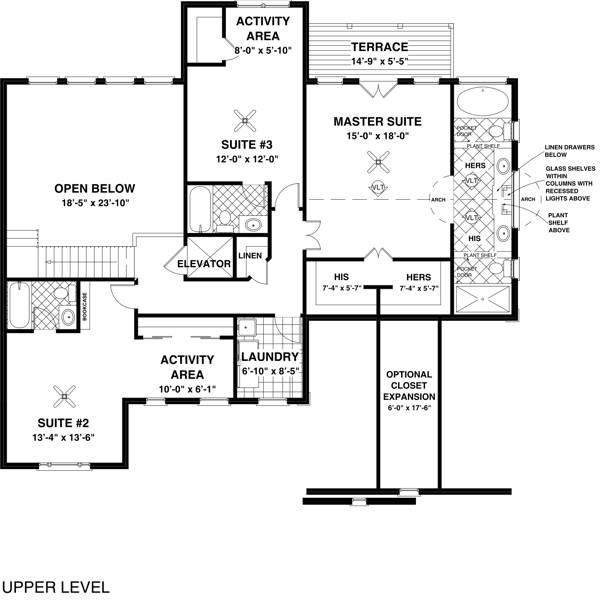Комфортный дом План 2-этажного дома 16x16 256 кв м