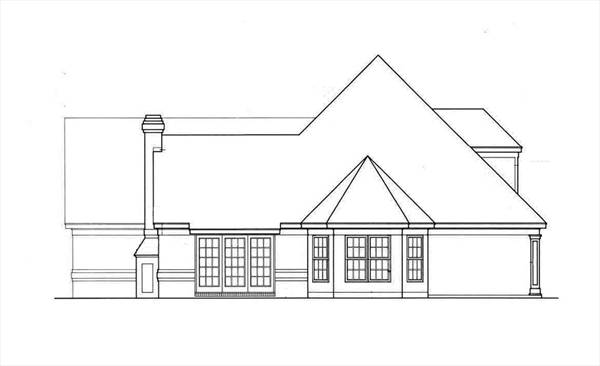 Вид справа План дома с мансардой под вальмовой крышей