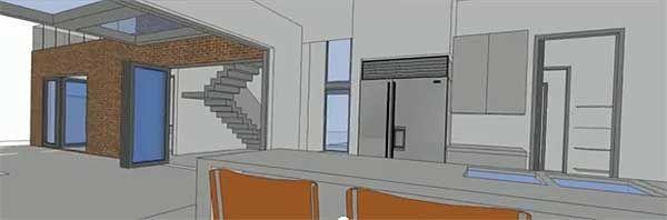 Фото 4 Проект дома из газобетона П-образной формы с театром, бассейном и террасой на втором этаже
