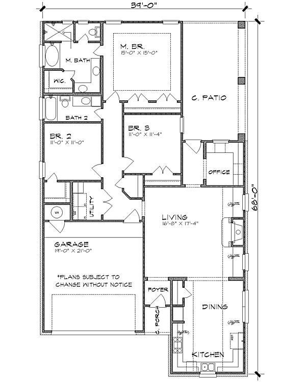 Этот удобный проект одноэтажного дома  12 на  площадью  до 200 кв.м с гаражом на 2 машины и с 3 спальнями подходит для постоянного проживания. В большой спальне есть ванная. Также перед домом есть веранда..