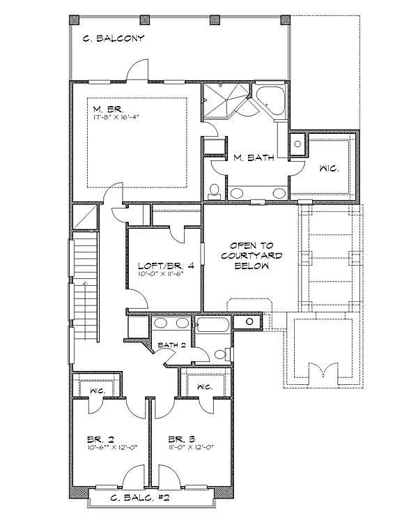 План 2 этажа План 2-этажного дома 13x20 221 кв м