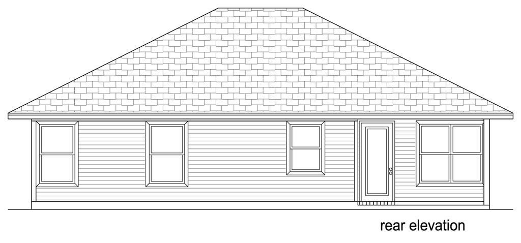 Красивый дом План одноэтажного дома до 150 кв.м с вальмовой крышей: планировка с 3 спальнями