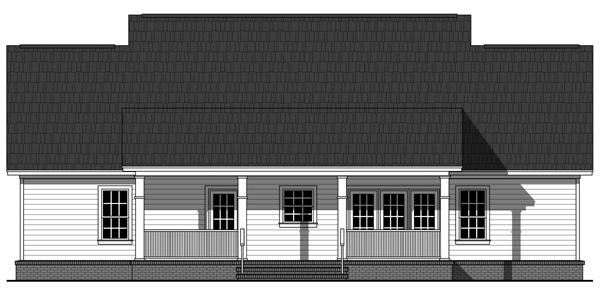 Вид сзади План одноэтажного дома до 200 кв.м с двумя верандами и 3 спальнями
