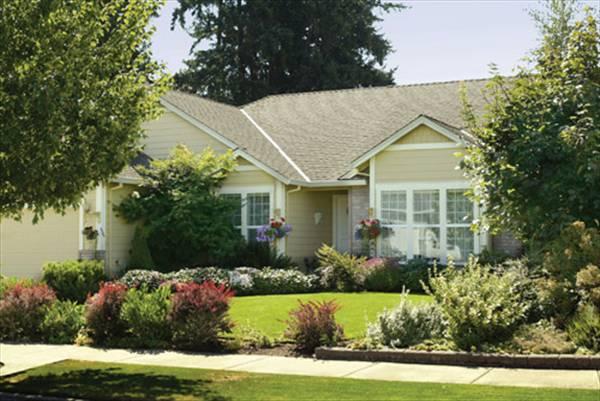 Уютный дом План 1-этажного дома AM-2410-1-3 в американском стиле 157 кв м