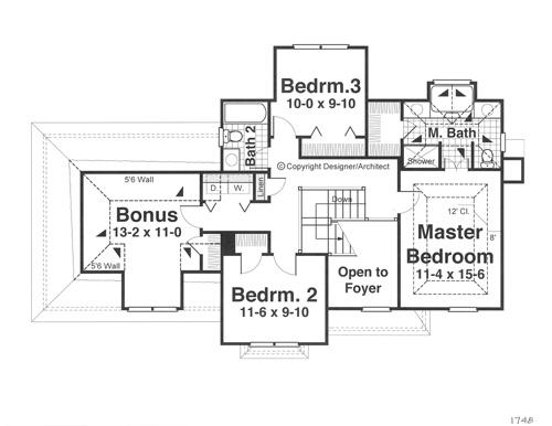 Этот практичный проект двухэтажного каркасного дома 11 метров площадью  до 200 кв.м с гаражом на 2 машины и с 4 спальнями подходит  строительства дома с цокольным этажом на участке с уклоном и  для строительства дома с цокольным этажом на склоне . В большой спальне есть ванная. Также перед домом есть веранда..