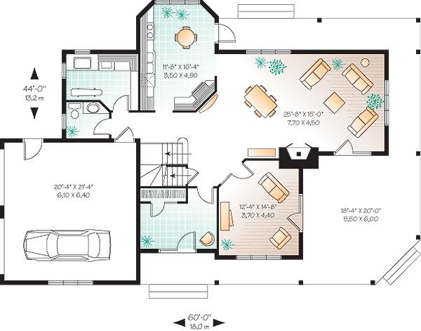 Этот прекрасный проект двухэтажного каркасного дома в дачном стиле площадью  до 250 кв.м с гаражом на 2 машины и с 3 спальнями подходит  для дачи . В большой спальне есть ванная. Также перед домом есть веранда..