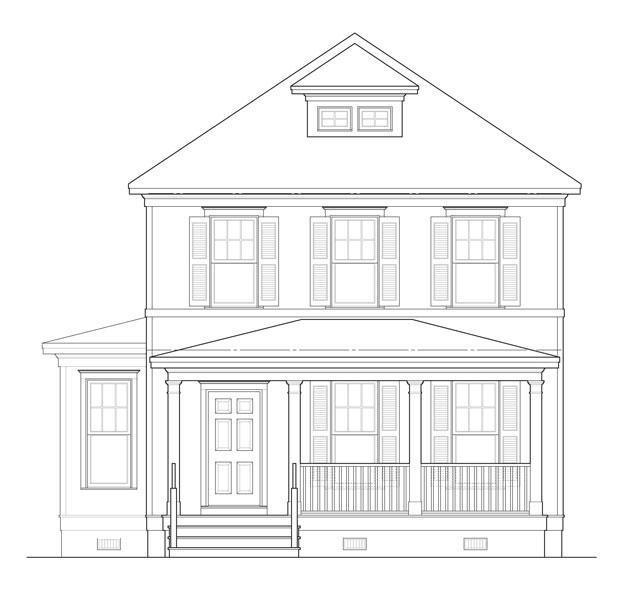 Этот привлекательный проект двухэтажного каркасного дома  8 на  площадью  до 200 кв.м с гаражом на 2 машины и с 4 спальнями подходит для постоянного проживания. Также перед домом есть веранда..