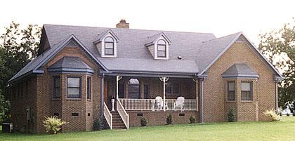 Кирпичный дом План 1-этажного дома 18x15 148 кв м