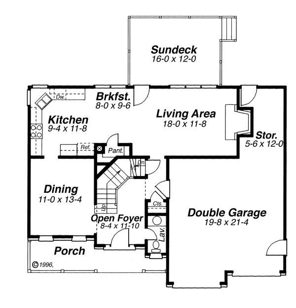 План 1 этажа Проект 2-этажного дома 13x11 156 кв м