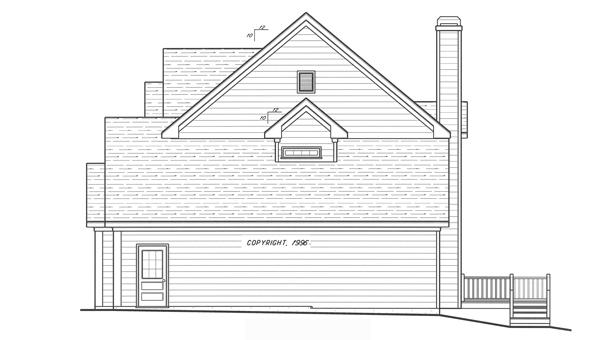 Вид справа Проект двухэтажного дома в английском стиле с встроенным гаражом