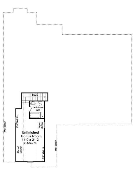 План мансарды Проект симпатичного одноэтажного дома со слуховыми окнами на двускатной крыше