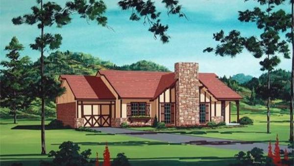 Отличный проект одноэтажного дома в стиле фахверк площадью  до 150 кв.м с гаражом и с 3 спальнями подходит  для дачи.