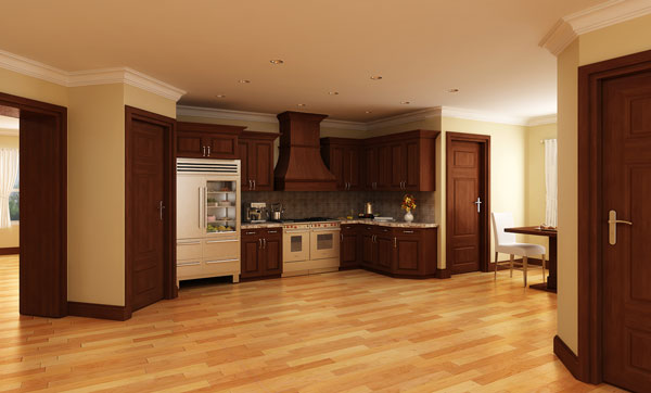 Хорошая планировка Проект красивого одноэтажного дома HD-4446-1-3 с внутренним двориком в стиле кантри