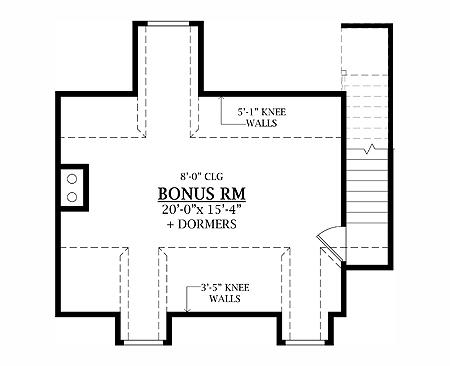 План мансарды План одноэтажного дома 15x16 с возможностью пристройки гаража