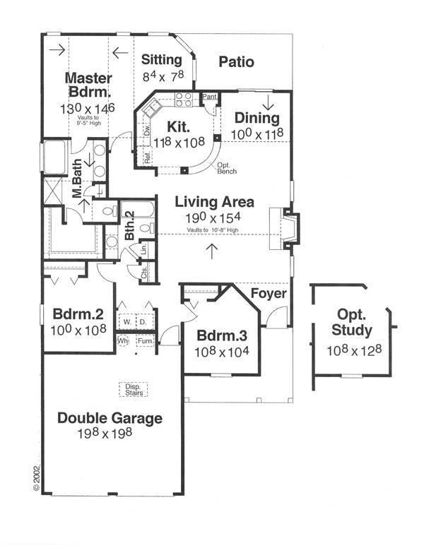 План 1 этажа План 1-этажного дома 12x20 142 кв м