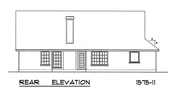 Вид сзади План 1-этажного дома 16x15 146 кв м