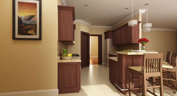 Этот популярный проект одноэтажного дома  площадью  до 200 кв.м с гаражом на 2 машины и с 4 спальнями подходит для постоянного проживания. В большой спальне есть ванная. Также сзади дома пристроена веранда..