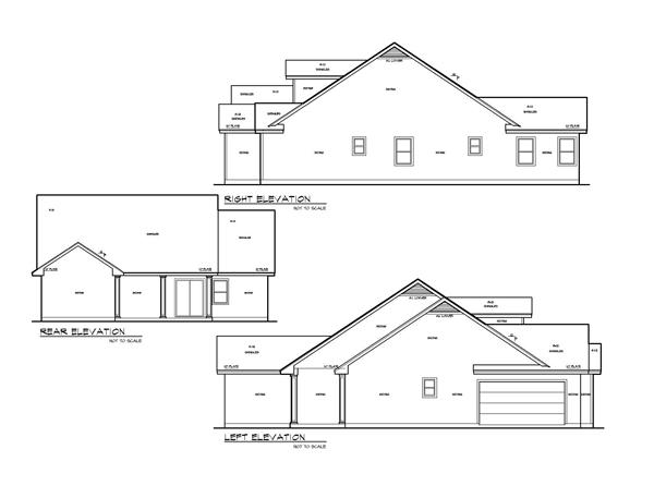 Вид сзади План одноэтажного дома с 4 спальнями до 160 кв м