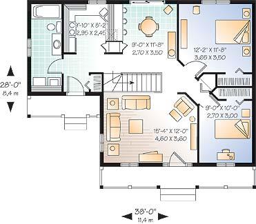 Этот красивый проект одноэтажного дома в дачном стиле 11 на 8 метров площадью  до 100 кв.м с 2 спальнями подходит  для дачи . Также перед домом есть веранда..