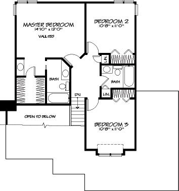 План 2 этажа План 2-этажного дома 12x14 145 кв м