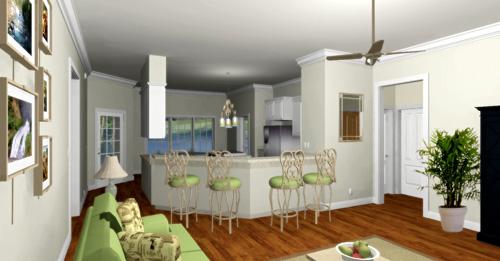 Удобный дом План 1-этажного дома 16x13 152 кв м