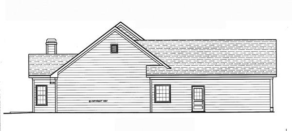 Проект одноэтажного дома с 4 спальнями и внутренним двориком