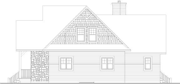 Вид сзади Проект каркасного дома KD-4648-3-3 в трех уровнях