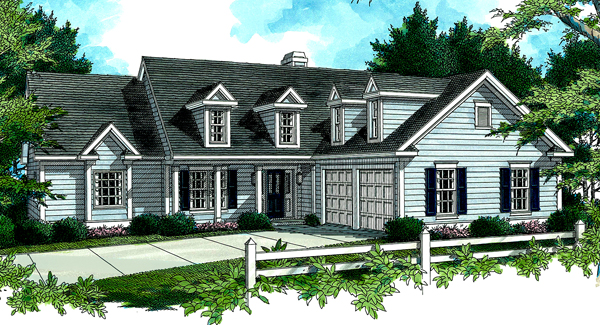 Красивый дом План 1-этажного дома 17x18 156 кв м