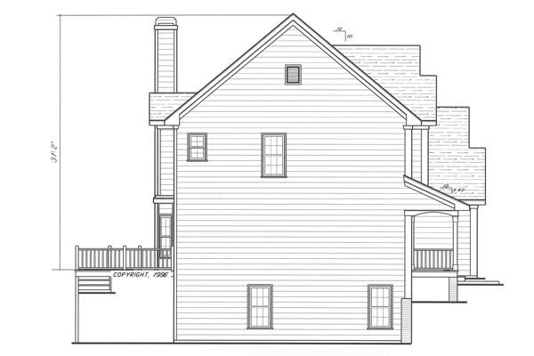 Вид слева Проект двухэтажного дома в английском стиле с встроенным гаражом
