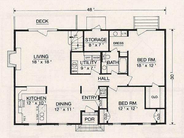 План 1 этажа План 2-этажного дома 15x9 127 кв м