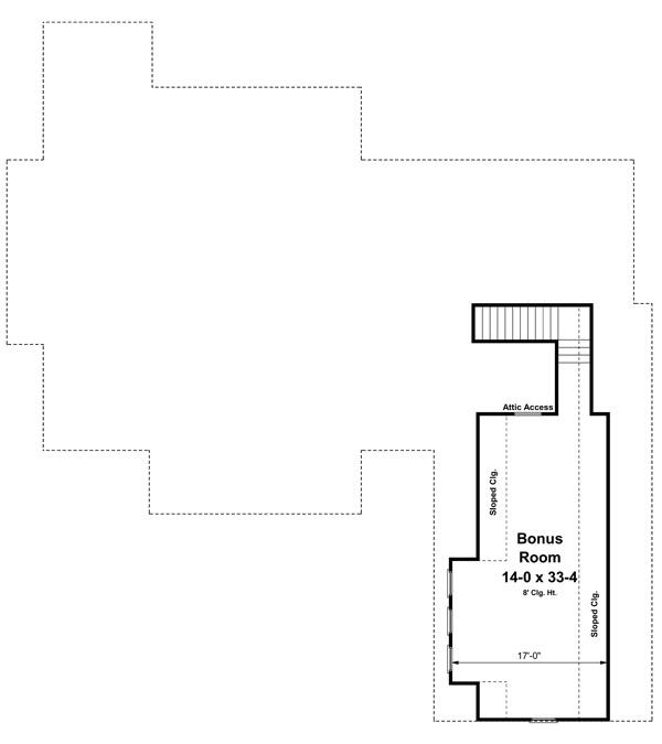 План мансарды План 1-этажного дома 22x24 199 кв м