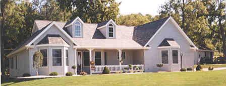 Оштукатуренный дом План 1-этажного дома 18x15 148 кв м