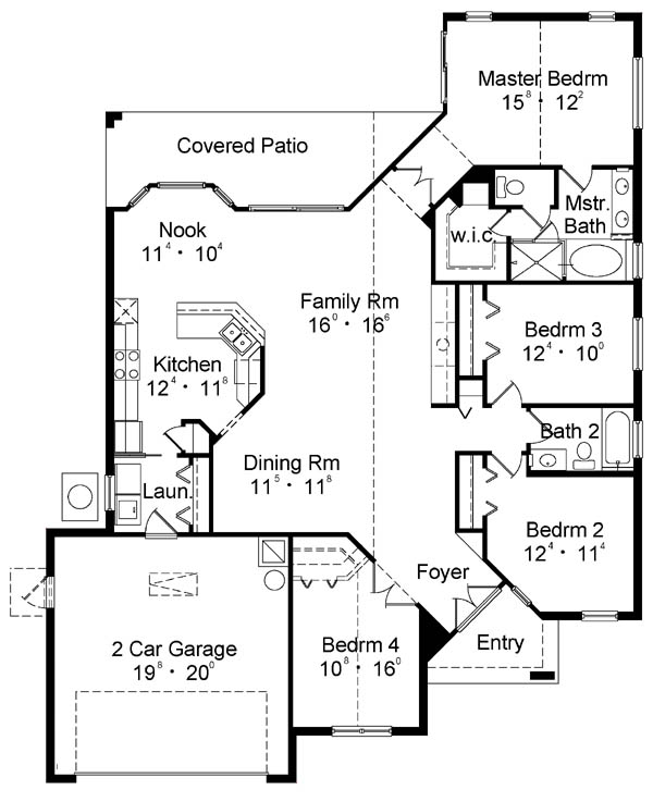 План 1 этажа План 1-этажного дома 15x20 175 кв м