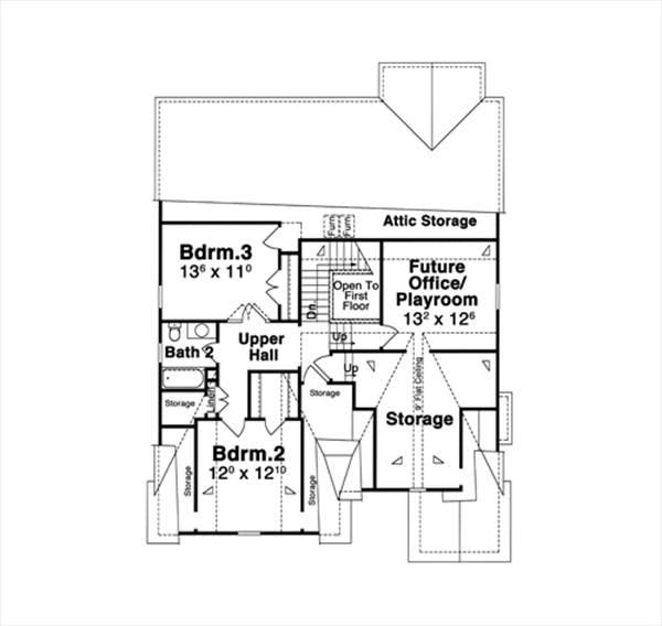 План 2 этажа План 2-этажного дома KD-8997-2-4 196 кв м