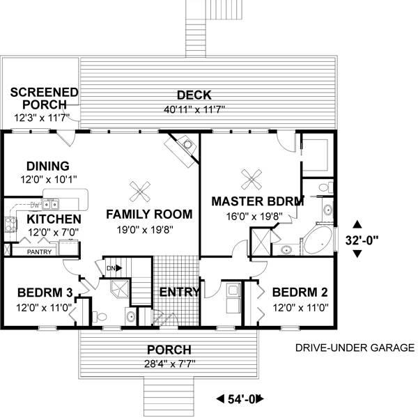 План 1 этажа План 1-этажного дома 17x10 161 кв м