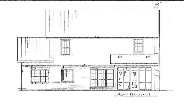 Вид сзади План 2-этажного дома 14x16 с застекленной верандой