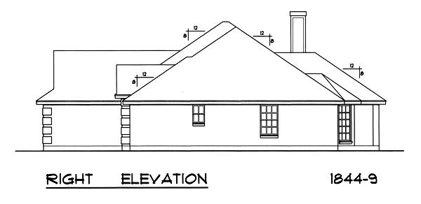 Вид справа План 1-этажного дома RD-2862-1-3 171 кв м