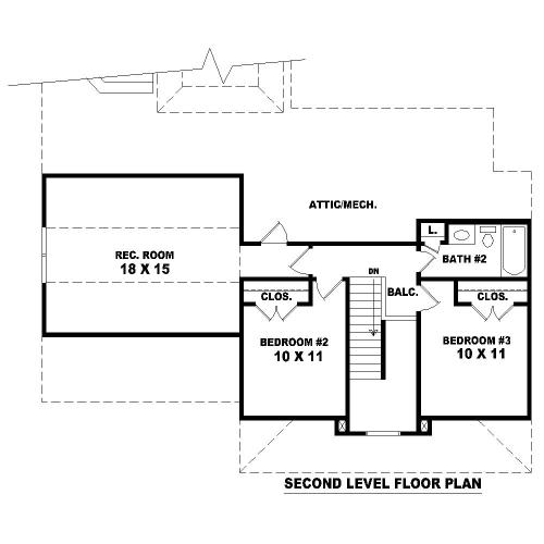 План 2 этажа План 2-этажного дома 14x15 181 кв м