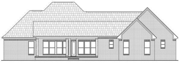 Вид сзади План одноэтажного каркасного дома с кабинетом и отдельной столовой