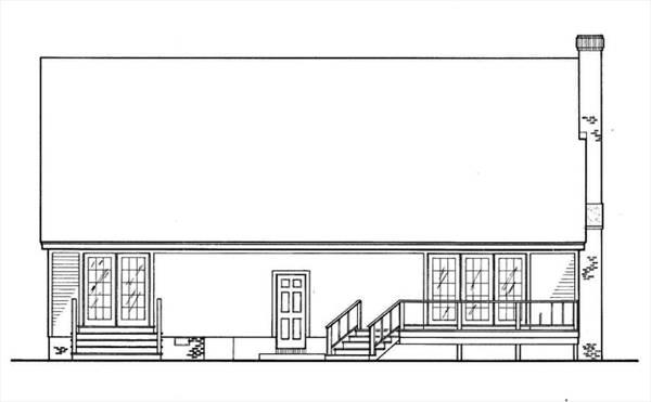 Вид сзади План 2-этажного дома 15x9 127 кв м