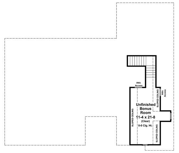 План мансарды Проект одноэтажного дома  до 200 кв.м в стиле прованс с верандой