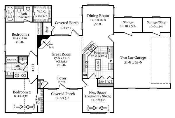 План 1 этажа План 1-этажного дома 20x13 140 кв м