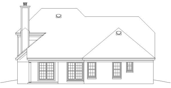 Вид сзади План 2-этажного дома 14x15 181 кв м